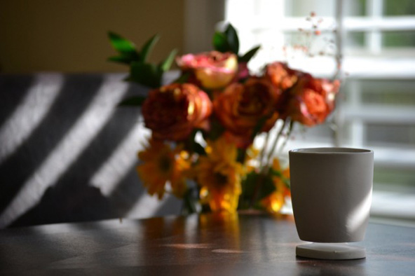 Taza de café flotante