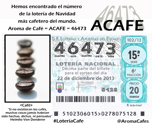 Lotería Navidad Cafetera