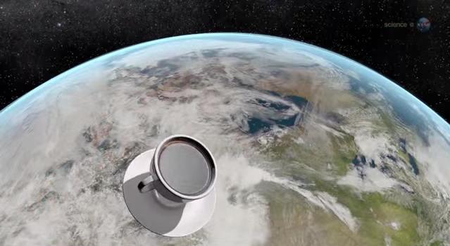 Café en el espacio