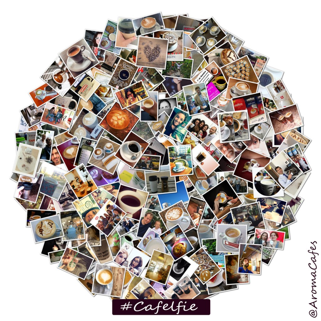 Collage cafelfie InternationalCoffeeDay_AromaCafes_circulo_C_media